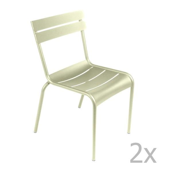 Sada 2 zelenkavých židlí Fermob Luxembourg