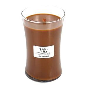 Svíčka s vůní zázvoru a koření WoodWick Perník, dobahoření130hodin