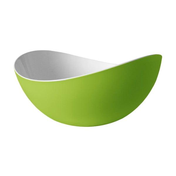 Zelená salátová mísa Entity, 34 cm