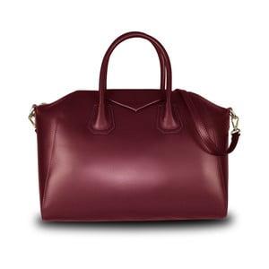 Červená kabelka z pravé kůže JOHN FISH Lamar