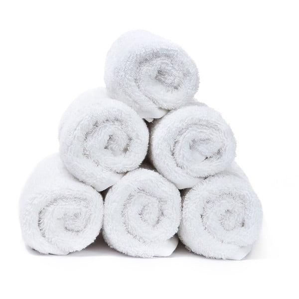Sada 6 bílých ručníků Casa Di Bassi Guest, 30x50cm