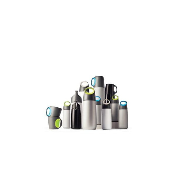 Bílo-šedá lahev s karabinkou XD Design Mini Bopp