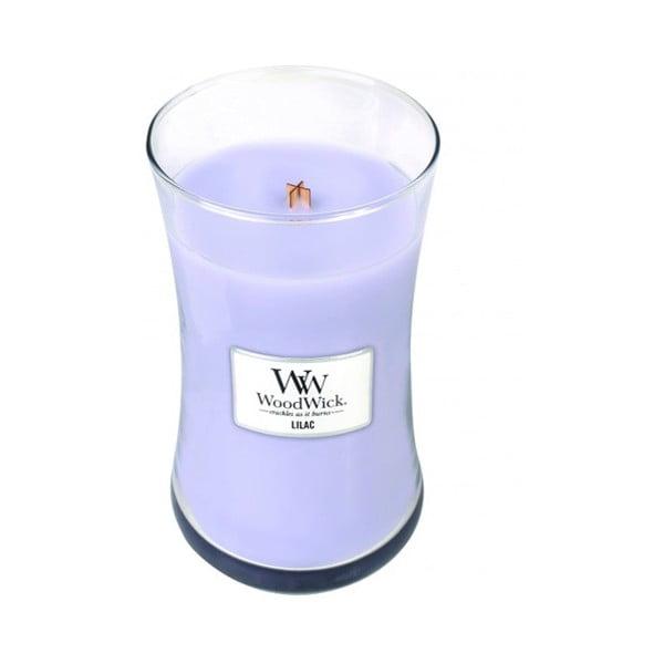 Vonná svíčka WoodWick Lilac Garden, 130 hodin
