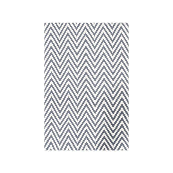 Vlněný koberec Zig Zag Grey, 240x155 cm