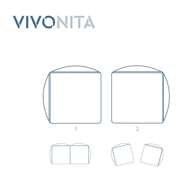 Tmavě béžová dvoumístná modulová pohovka s podnožkou Vivonita Cube
