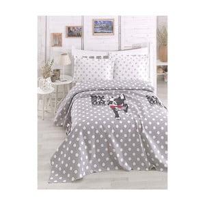 Cuvertură subțire pentru pat Boston Grey, 200 x 235 cm