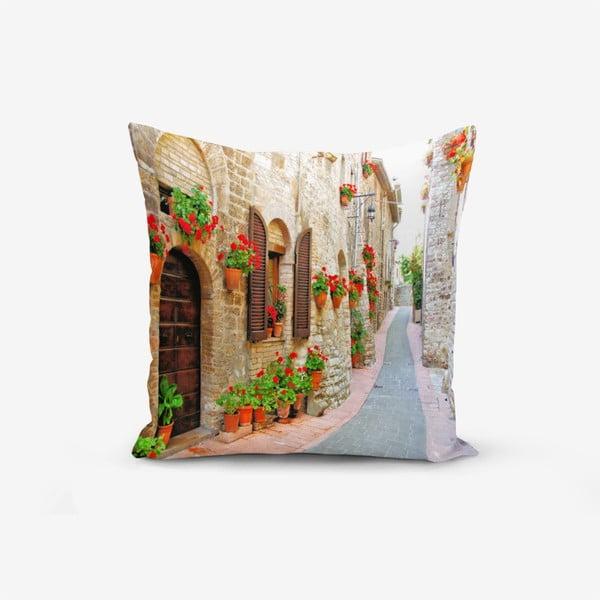Povlak na polštář s příměsí bavlny Minimalist Cushion Covers Colorful Street, 45 x 45 cm