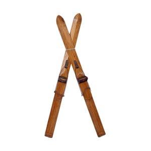 Dřevěná dekorace ve tvaru lyží Antic Line Ski Ornament
