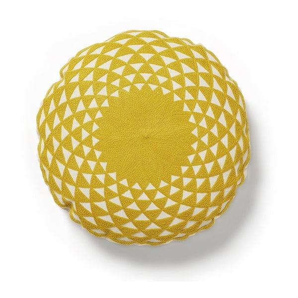 Žlutý polštář La Forma Zappa,Ø45cm