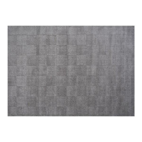 Vlněný koberec Luzern, 140x200 cm, šedý