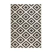 Covor reversibil adecvat interior/exterior Bougari Malta, 120 x 170 cm, negru-crem