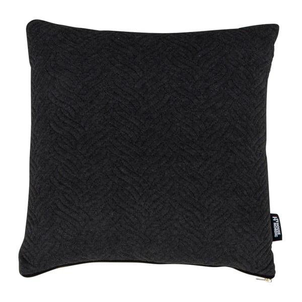 Ferrel fekete díszpárna, 45 x 45 cm - House Nordic