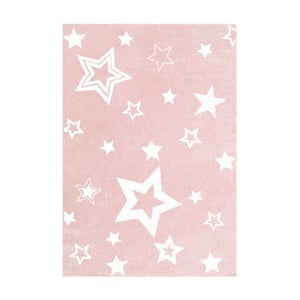 Růžový dětský koberec Happy Rugs Satrlight, 100x160cm