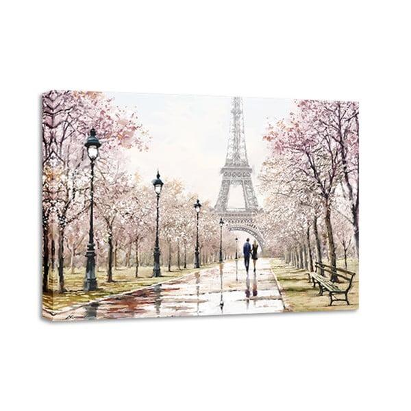 Canvas Watercolor Paris Melancholy fali kép, 85 x 113 cm - Styler