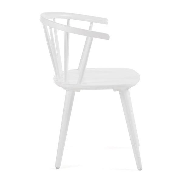 Bílá jídelní židle ze dřeva kaučukovníku La Forma Krise