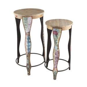 Dvě barové stoličky French Flower