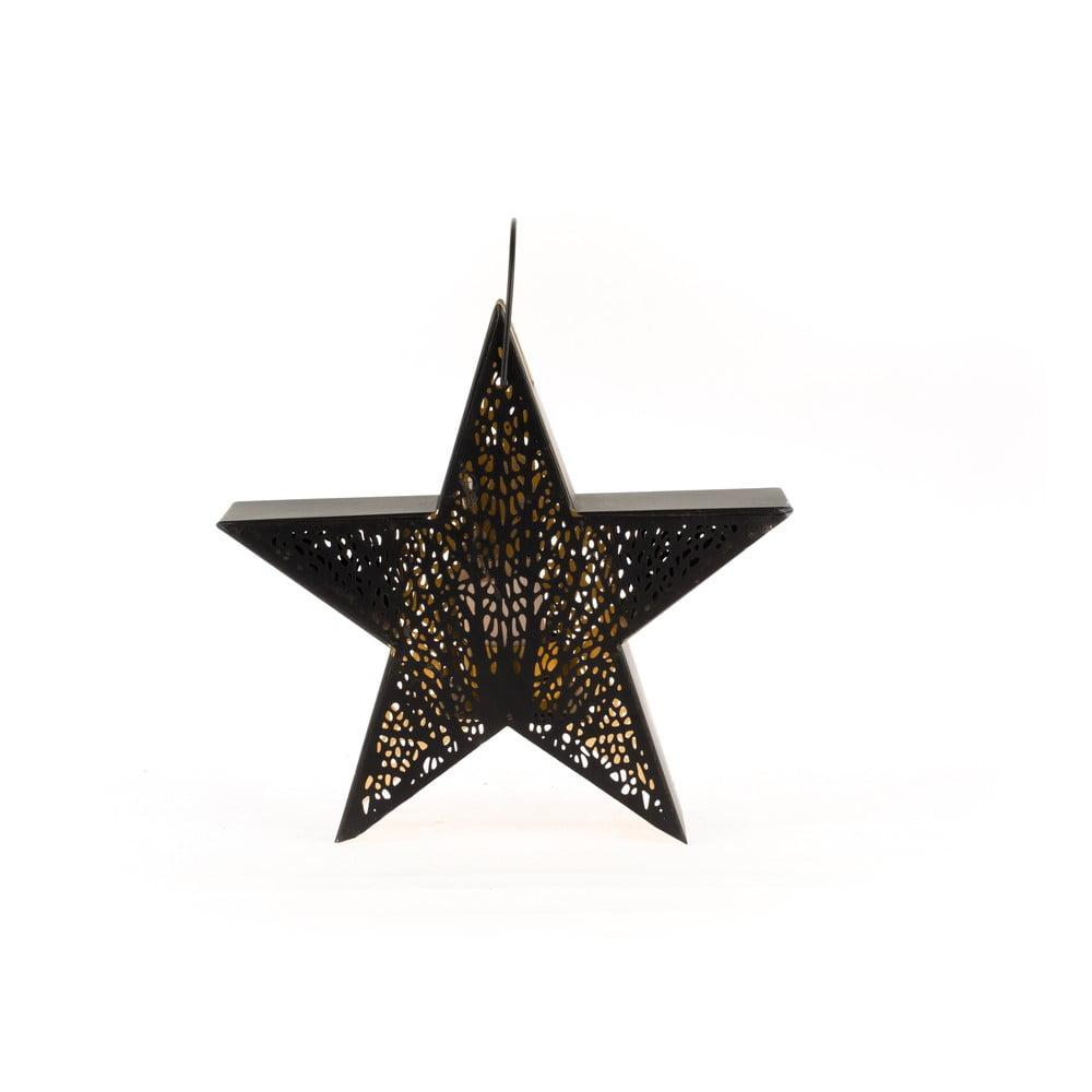 Kovová lucerna ve tvaru hvězdy Dakls