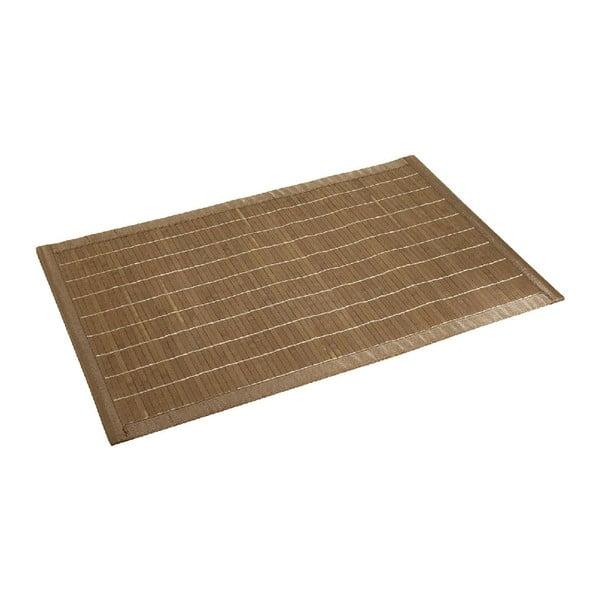 Tmavá kúpeľňová podložka z bambusu Wenko, 50x80 cm