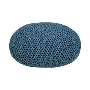 Pouf tricotat LABEL51 Knitted XL, albastru