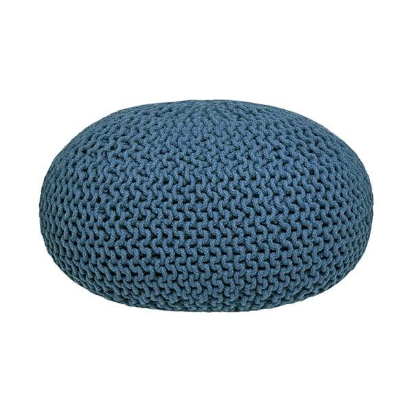 Niebieski puf dziergany LABEL51 Knitted XL