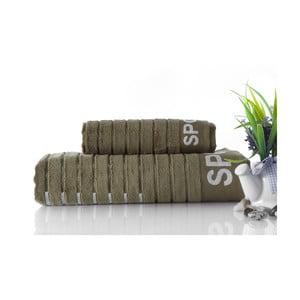 Set dvou ručníků Sport Green, 70x140 a 50x90 cm