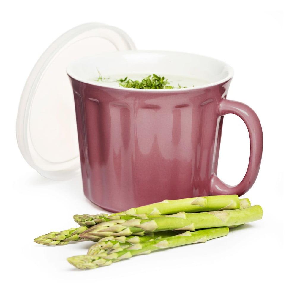 Růžový hrnek na polévku Sagaform, 500 ml