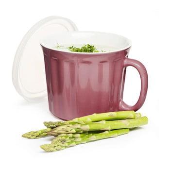 Cană din porțelan pentru supă Sagaform 500 ml, roz de la Sagaform