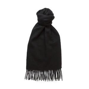 Černá kašmírová šála Hogarth, 180x25cm