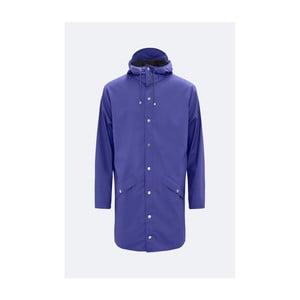 Fialová unisex bunda s vysokou voděodolností Rains Long Jacket, velikost L/XL