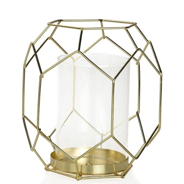 Svícen Gold Candle, výška 16.5 cm