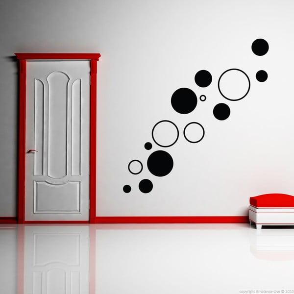 Samolepka Black Circles, 55x55 cm