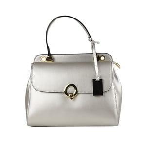 Stříbrná kožená kabelka Matilde Costa New York