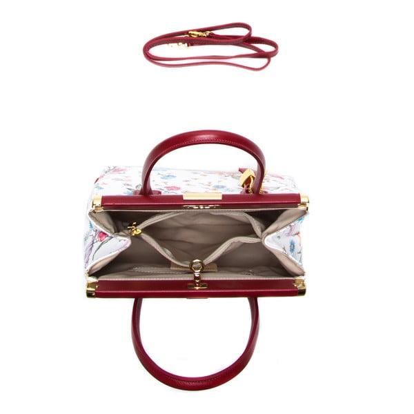 Kožená kabelka Carla Ferreri 901 Rosso Multi