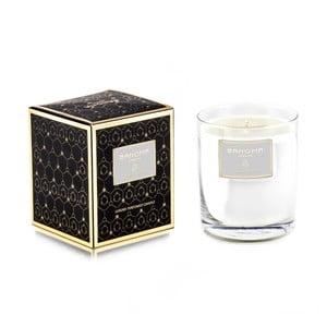 Svíčka ve skle s vánoční vůní dřeva Bahoma London Tichá Noc, 75 hodin hoření