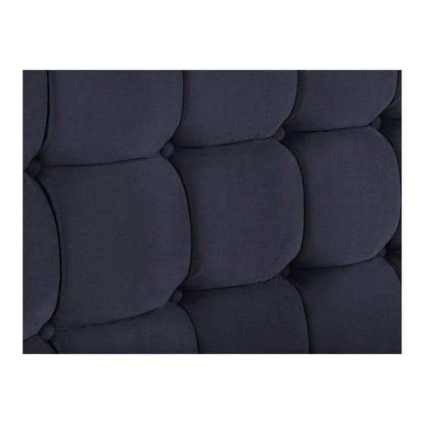 Tmavě modré čelo postele Kooko Home Hasso, 120 x 160 cm