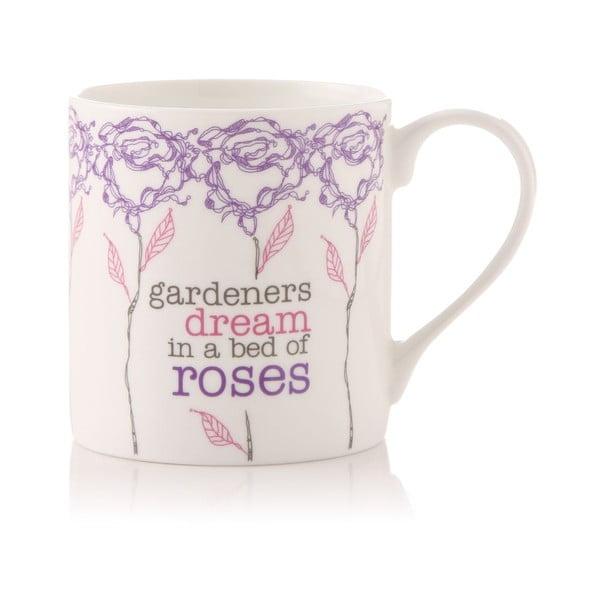 Porcelánový hrnek Gardeners dream in a bed of roses
