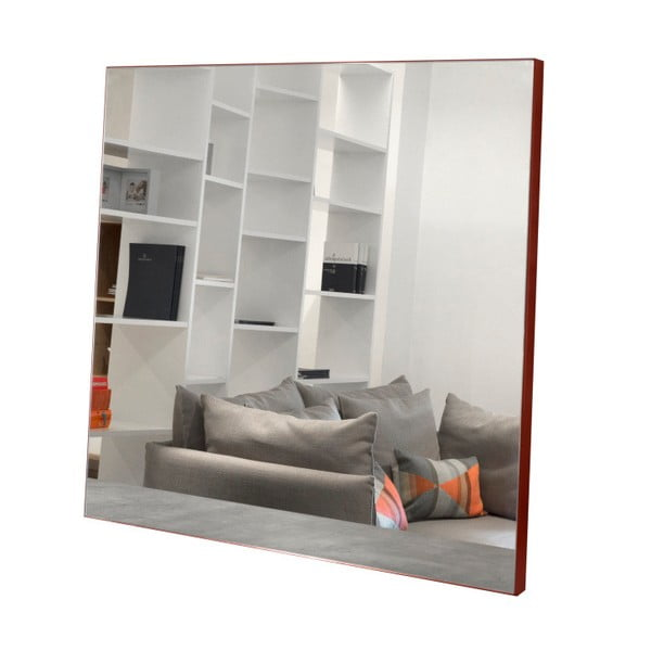 Nástěnné zrcadlo s červenými detaily TemaHome Aurora