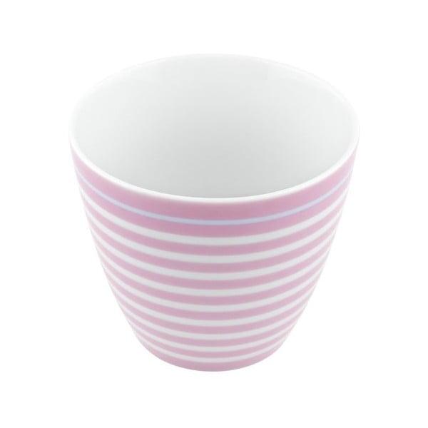 Porcelánový šálek Lines S, růžový 4 ks