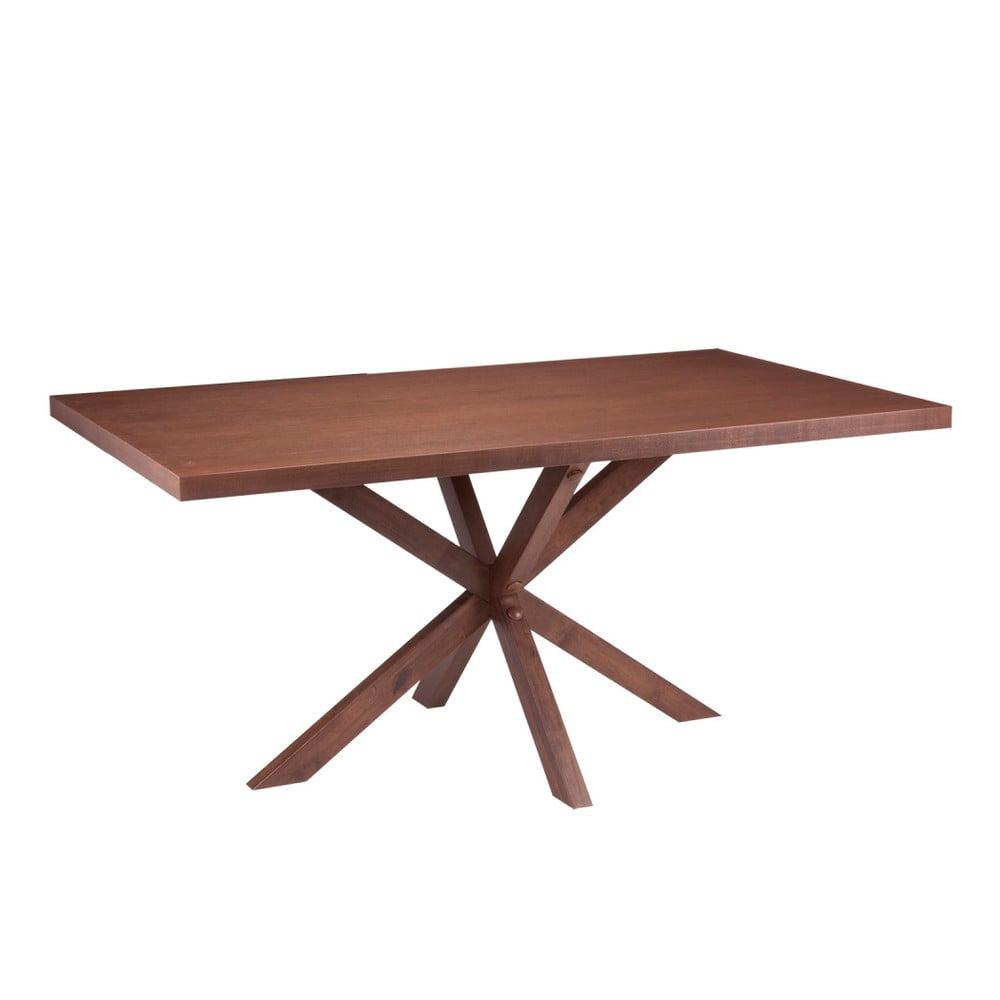 Jídelní stůl v dekoru ořechového dřeva sømcasa Dina, 160 x 90 cm