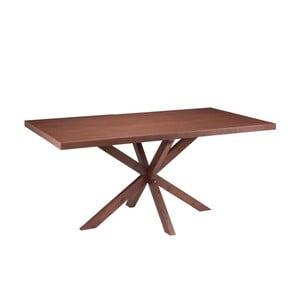 Jídelní stůl v dekoru ořechového dřeva sømcasa Dina, 160x90cm