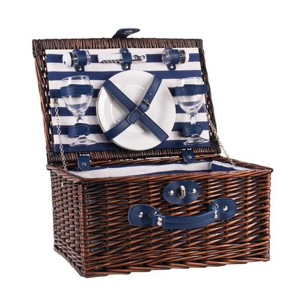 Wiklinowy kosz piknikowy z wyposażeniem dla 2 osób Navigate Basket