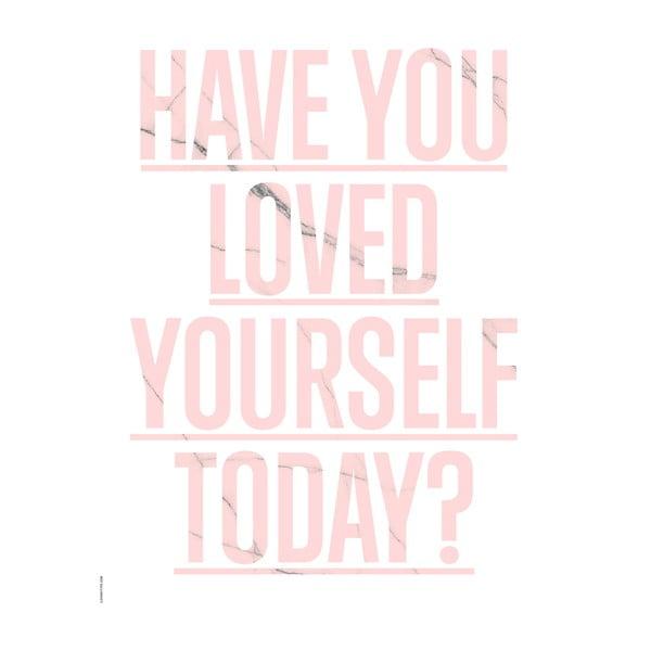 Autorský plakát Loved Yourself Rose, A3
