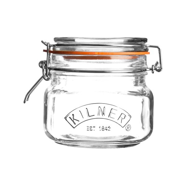 Zavařovací sklenice s klipem Kilner hranatá, 0,5l