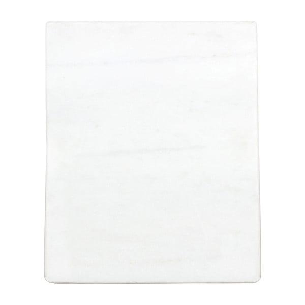 Bílý podnos z mramoru Strömshaga, 30 x 25 cm