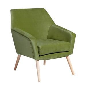 Zelené křeslo Max Winzer Alegro Suede
