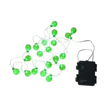 Șirag luminos LED pentru exterior Best Season Bulb, 20 becuri, verde imagine