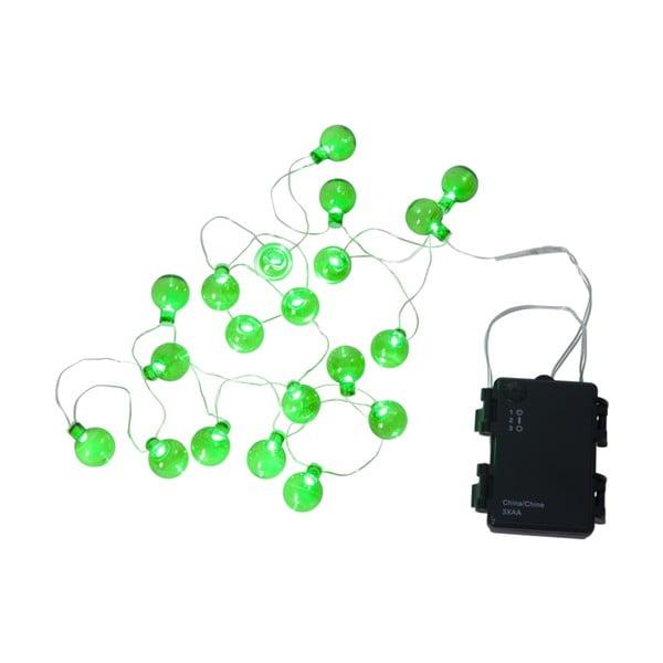 Șirag luminos LED pentru exterior Best Season Bulb, 20 becuri, verde