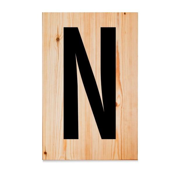 Dřevěná cedule Letters N