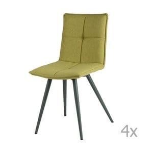 Set 4 scaune sømcasa Zoe, verde