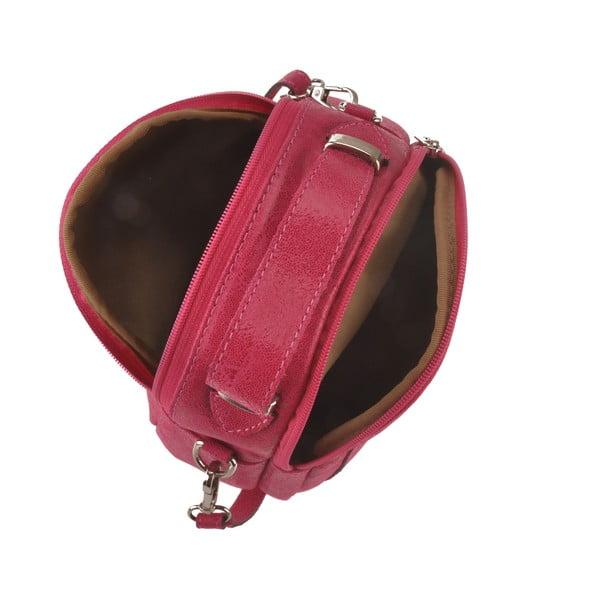 Růžová kožená kabelka Men